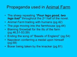 propaganda and george orwell s animal farm 12 propaganda used in animal farm