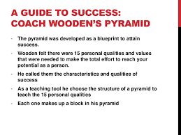 Coach Wooden's Leadership Game Plan For Success PPT Leadership game plan for success The Pyramid of Success 70