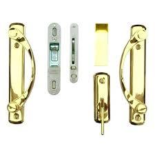 andersen sliding door lock sliding door lock 2 panel gliding door hardware set in bright brass