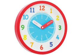 red cased childrens wall clock