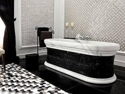 White marble tile flooring Greyish White Black And White Marble Tile Floor Wayfair Black And White Marble Tile Floor Santorinisf Interior Stunning