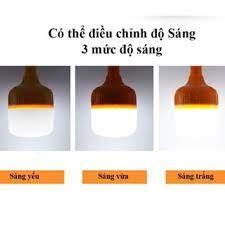 Đèn Led sạc tích điện dạng Bóng Bulb Pin 18650 Chọn Công suất 40/60/100W mã  37001