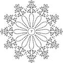 Вязанные крючком снежинки схемы и описание