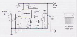 tda watt audio amplifier circuit tda1514 40w audio amplifier schematic