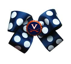 Virginia School Hair Design Large Uva Virginia Cavaliers Hair Bow Virginia Basketball