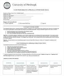 Hr Appraisal Forms Templates Free Premium Staff Performance