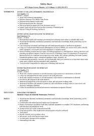 Entry Technician Resume Samples | Velvet Jobs