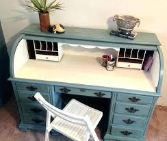 painted kids desk kids roll top desk vintage roll top desk home office desk painted by
