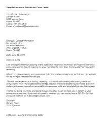 Sample Resume For Electronics Technician Cctv Technician Cover Letter Electronics Technician Cover Letter