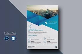 Corporate Flyer Design In Microsoft Word Free Used To Tech
