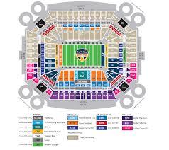 Capital One Seating Chart Seating Map Gameday Info Orange Bowl