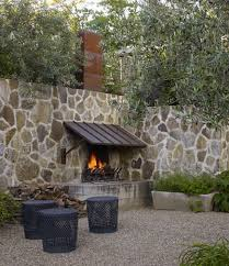 outdoor stone fireplace. Outdoor Stone Fireplaces - Fireplace With Steel Awning In A Wall Roche And Via I