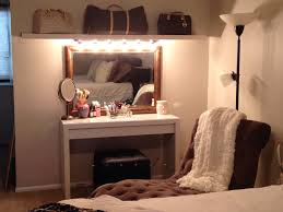 Makeup Vanities For Bedrooms With Lights Diy Makeup Vanity Malm Dressing Table With Pull Out Drawer And