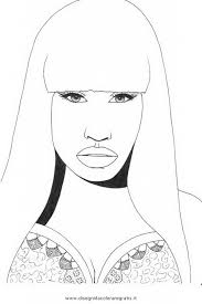 Small Picture Online Nicki Minaj Free Printable Coloring Page For Teenage Girls