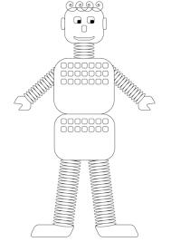 Robot Oude Stijl Kleurplaat Gratis Kleurplaten Printen