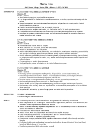 Download Patient Services Representative Resume Sample as Image file