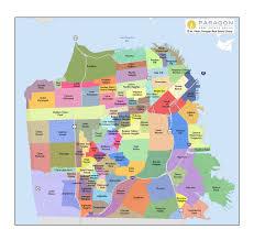 sf neighborhoods map  my blog