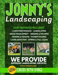 Sample Flyers For Landscaping Business Create Lawn Care Business Flyers Its Easy Postermywall