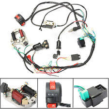 chinese atv wiring harness 1set 50 70 90 110 125cc cdi wire harness assembly wiring kit atv electric quad