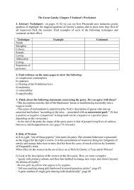 best the great gatsby images beds high school  worksheets for great gatsby