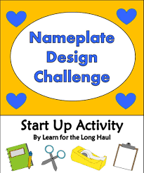 Nameplate Design For School Nameplates By Design School Resources Teacher Lesson