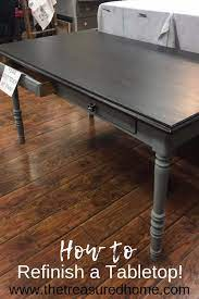 how to refinish a tabletop the
