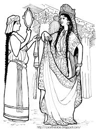 Coloring Pages For Kids Life Of Esther With Color Queen Esther Color