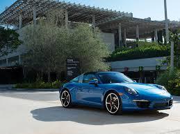 Wallpapers 2015 Porsche 911 Targa 4S (991) Light Blue Cars Metallic