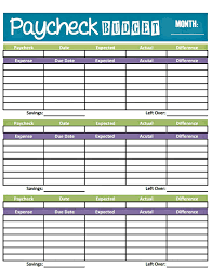 Weekly Budget Forms Budget Worksheet Printable Get Paid Weekly And Charlie Gets Paid