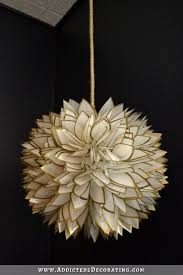 faux capiz shell flower pendant light 3