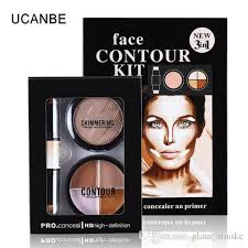3in1 face contour kit cream makeup brands face powder cosmetic kiss beauty pro concealer stick bronzers powder highlighter palette makeup collection