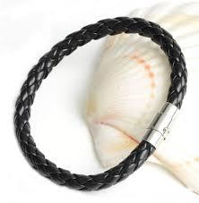 braided leather bracelets girls black color item no 811