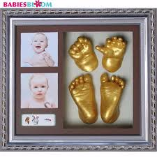 babies bloom creative diy 3d baby hand footprint kit with photo frame hand and footprint imprint frame kit