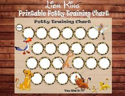 Lion King Potty Training Chart Card Diy Printable Instant Download High Resolution Potty Train Card