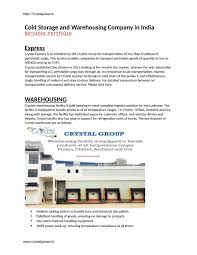 Cold Storage Design Pdf Cold Storage And Warehousing Company In India Pdf By Zoya