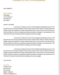 How To Format A Formal Letter Formal Letters Examples For Students Top Form Templates