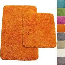 extremely creative orange bath rug set 2 piece bathroom mat in 50 x 80 cm and
