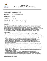 Sample Resume For Qtp Automation Testing qtp resume Eczasolinfco 2