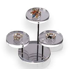ppx acrylic round barbell pedestal display riser table jewelry display showcase stand holder