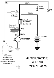 alternator wiring diagram 411 amps volts switch n breaker or alternator wiring diagram · knowledgeinfoideasvw beetlebugcars