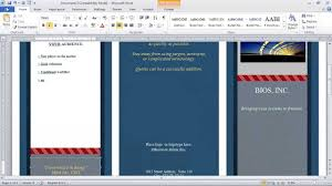 microsoft word temlates how to make a brochure in microsoft word youtube