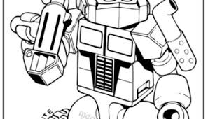 Small Picture Transformers optimus prime coloring pages