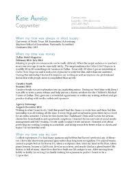 a copywriters resume katie aurelio s resume katie aurelio s portfolio