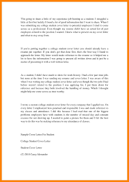 11 College Student Cover Letter Job Apply Form