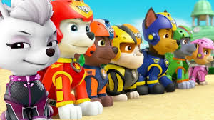 paw patrol mission paw new pups team chase rubble skye training day nickjr fun kids videos