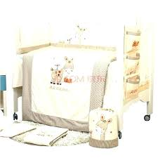 dora crib bedding set beige baby bedding sets farm baby bedding cotton embroidery pony with donkey