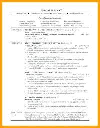 Mba Resume Sample – Districte15.info