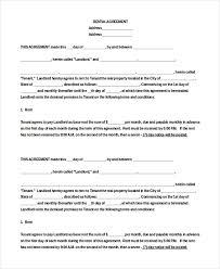 Apartment Rental Agreement 40 Free Word PDF Documents Download Awesome Apartment Rental Agreement Template Word