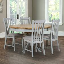 toulouse painted light grey round extending dining table 4 chairs seats 4 6