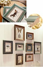 top quality brand 8 pcs set wooden vintage photo frame sets for family baby love memory home picture frame set home decor